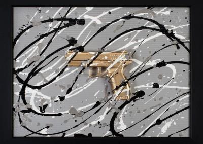 Gold-Pistol
